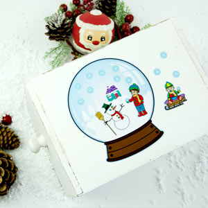 Sticker Boule de neige