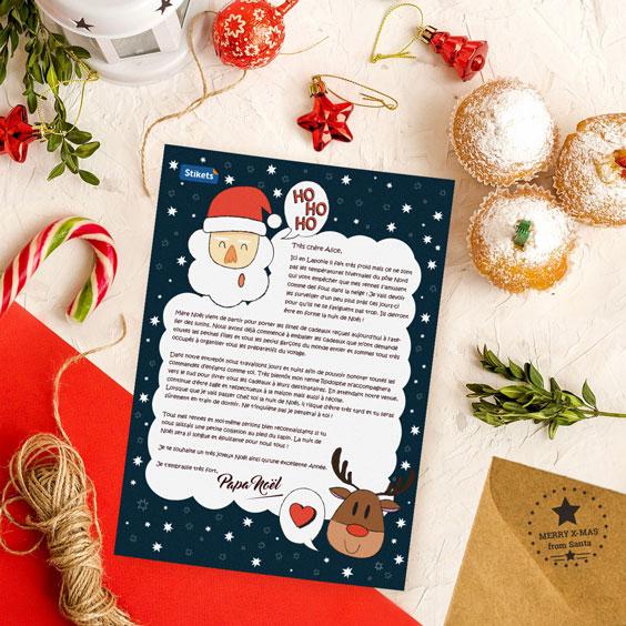 Carte de Papa Noël