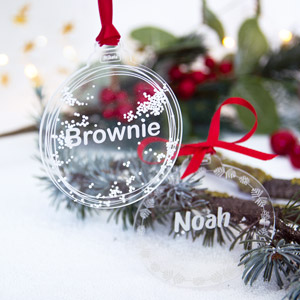 Custom Methacrylate Christmas Decorations