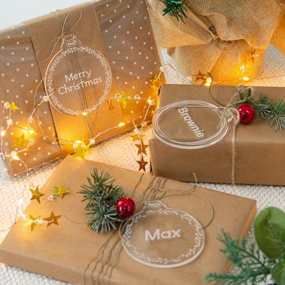 Bolas de Navidad personalizadas de metacrilato