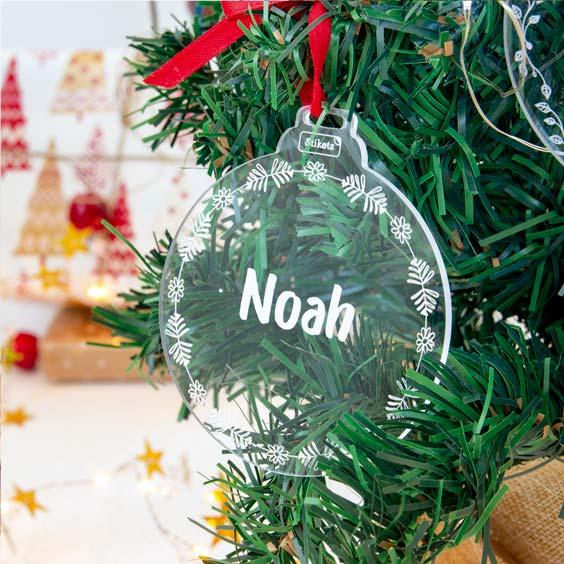 Palle di Natale personalizzate in plexiglass