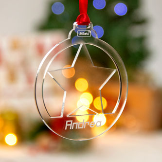 Custom Carved Methacrylate Christmas Decorations