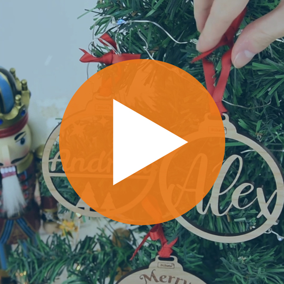 Custom Sublimation, Wooden & Methacrylate Christmas Decorations