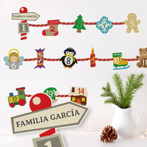 Personalised Advent Calendar Wall Sticker