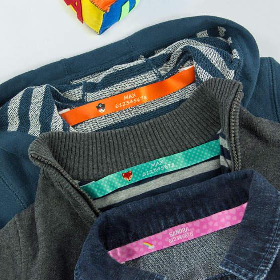 Fitas personalizáveis para coser