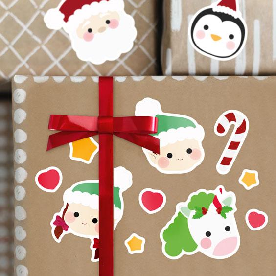 Enganxines de Personatges de Nadal
