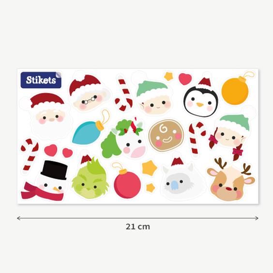 Pegatinas de Personajes de Navidad