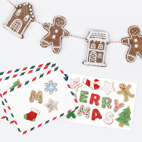 Naklejki na świąteczne ciasteczka