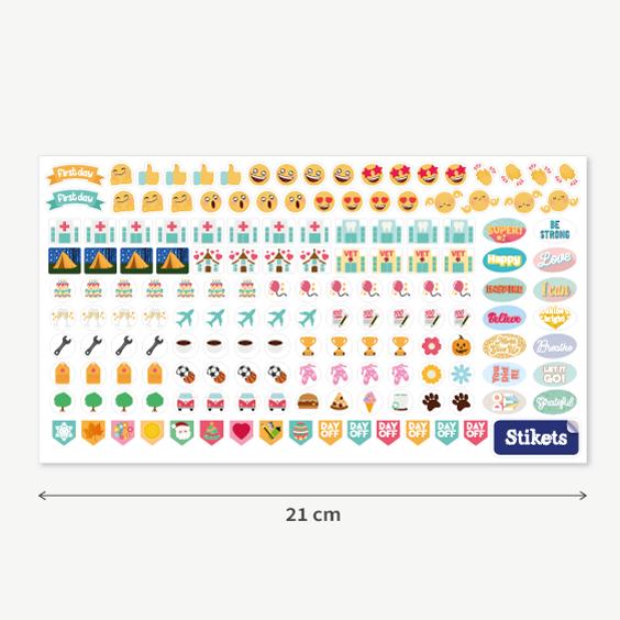 Enganxines d'icones per planificador