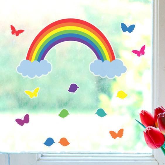Rainbow Window Decals