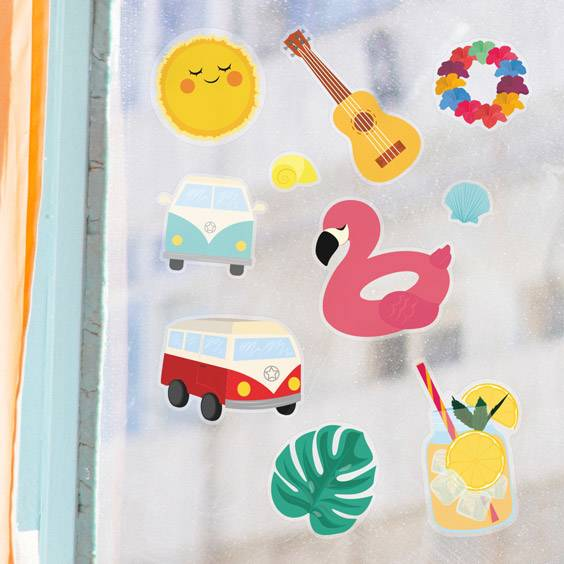 Summer Fun Window Decals