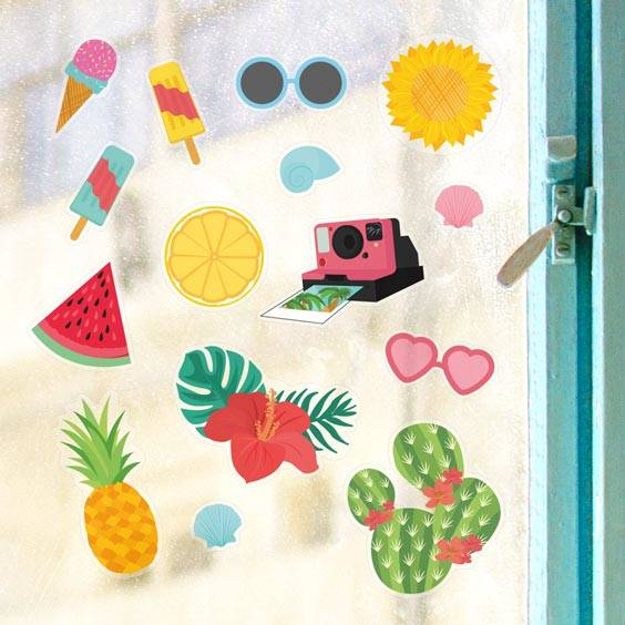 Summer Fun 2 Window Decals
