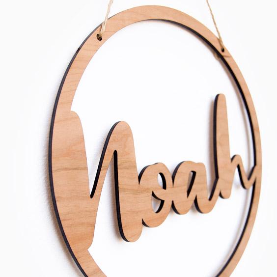 Noms de fusta enmarcats personalitzats