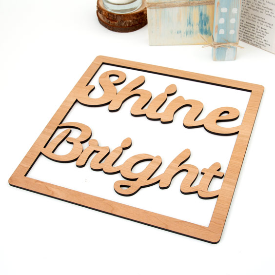 Custom Framed Wooden Names