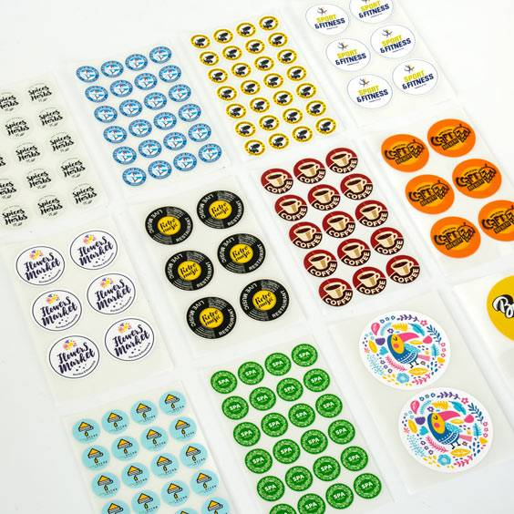 Custom Circle Iron-on Labels
