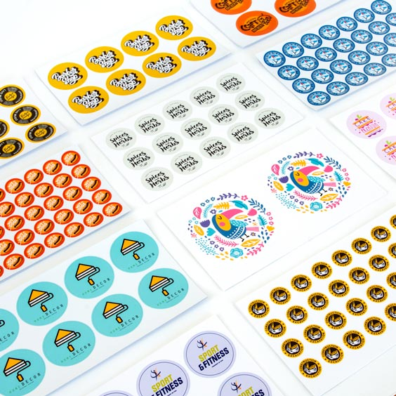 Aangepaste ronde stickers