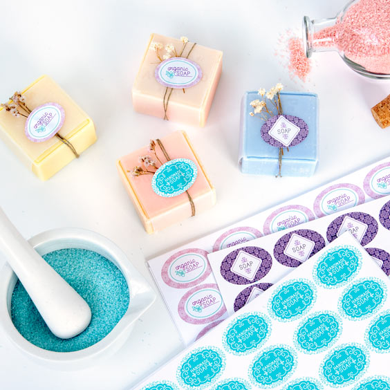Aangepaste ovale stickers