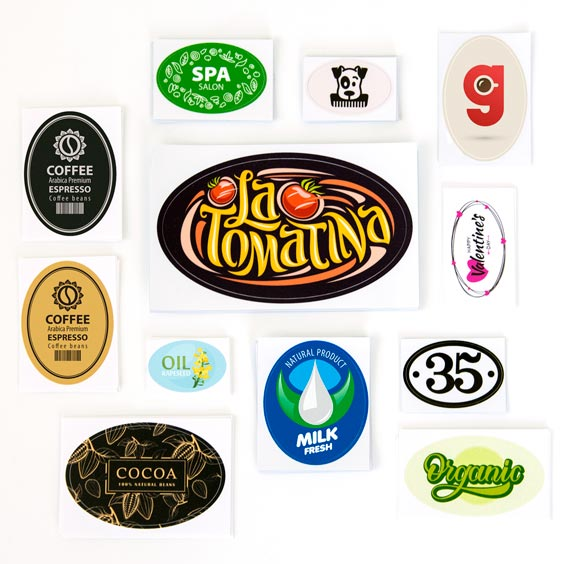 Kundetilpassede ovale klistermærker