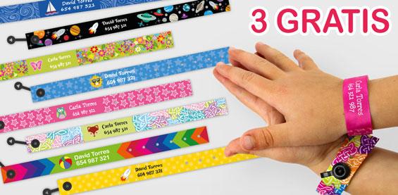 Llévate 3 pulseras identificativas gratis