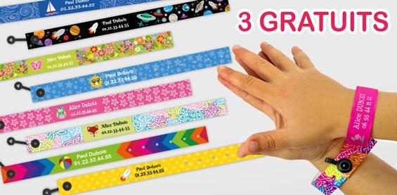 3 Bracelets identification offerts !