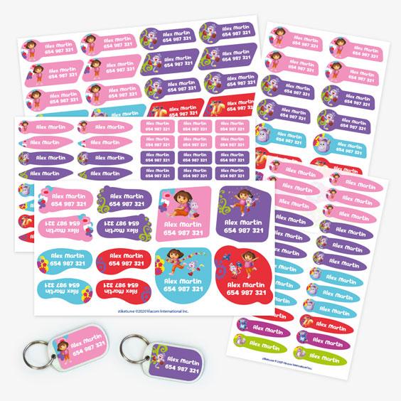 Pack etiquetas de Dora Exploradora