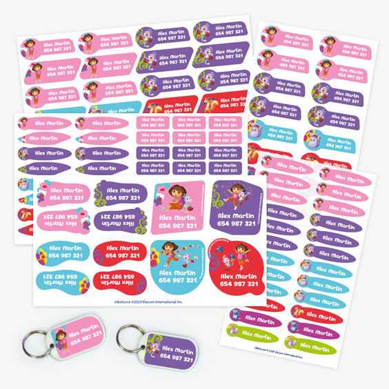 Dora the Explorer Name Label Pack