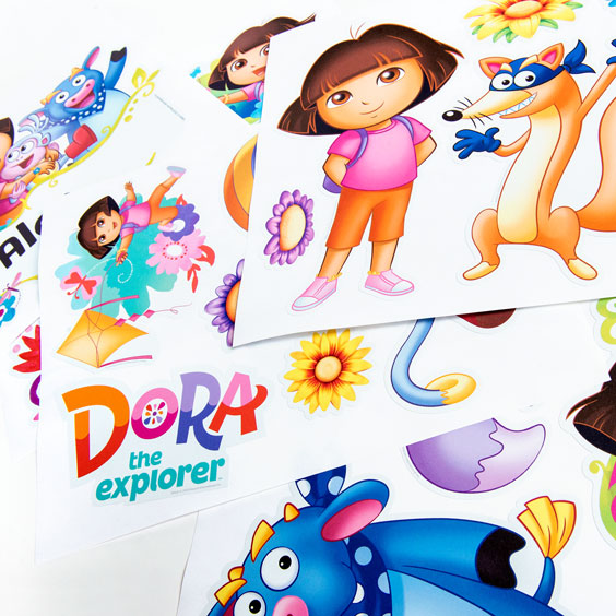 Dora the Explorer Custom Wall Sticker