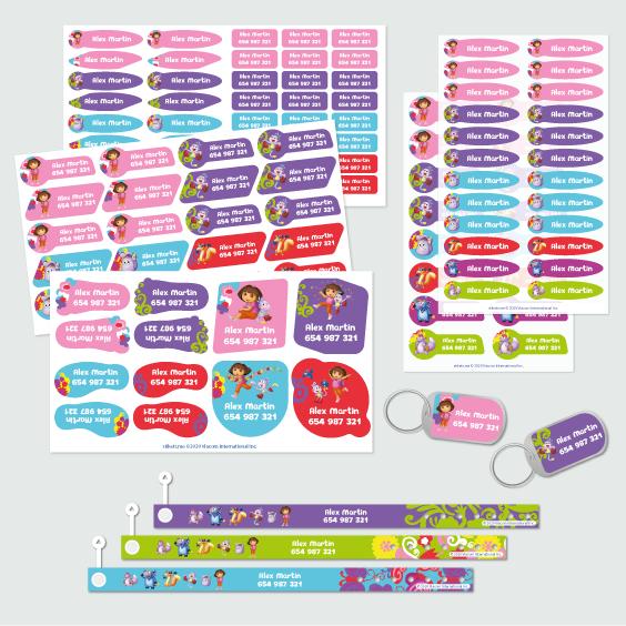 Pack Appendiabiti di Dora l'Esploratrice