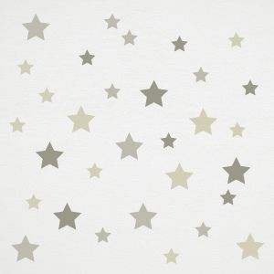 Grey tone stars wall stickers