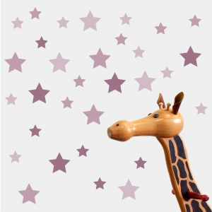 Pink stars wall stickers