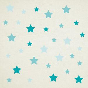 Mint stars wall stickers