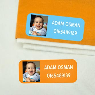 Medium Iron-On Photo Name Labels