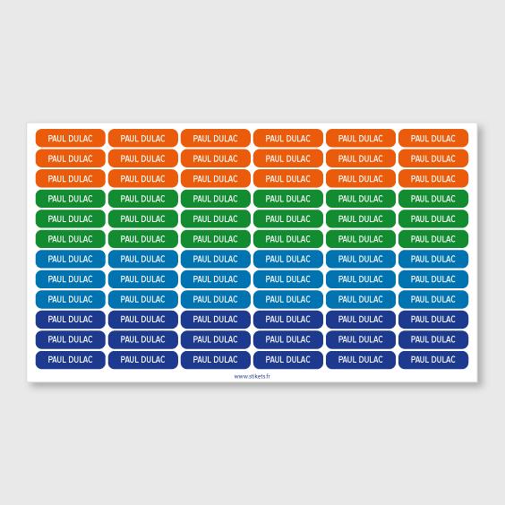 Étiquettes autocollantes Mini Format