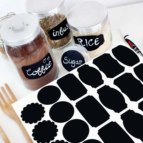 Blackboard labels for canisters & jars