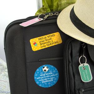 Etiketten für Gepäck