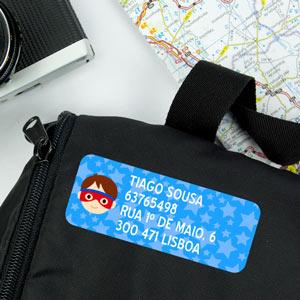 Etiquetas para malas de viagem retangulares