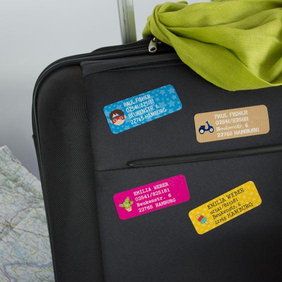 Rechteckige Aufkleber für Koffer