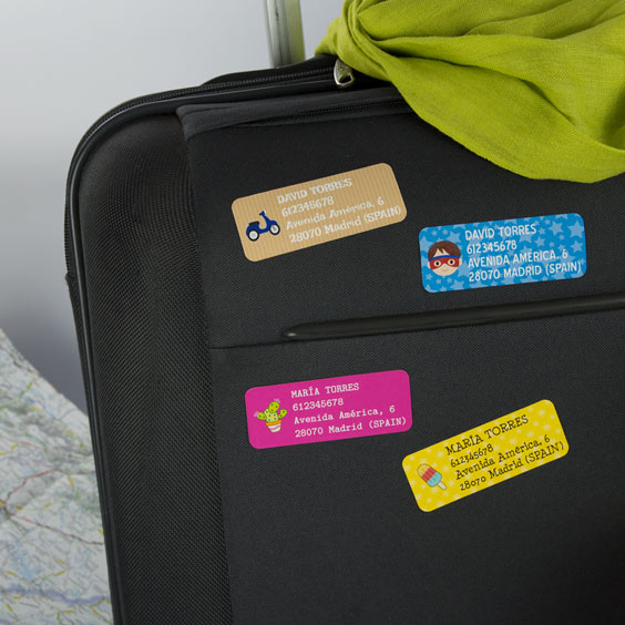 Rectangular luggage labels