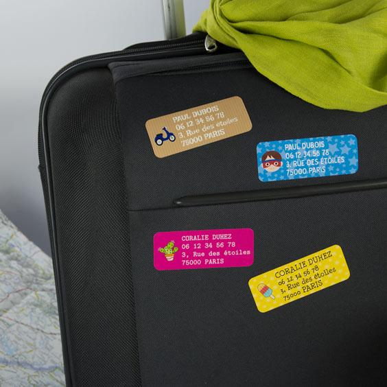 Etiquette bagage rectangulaire