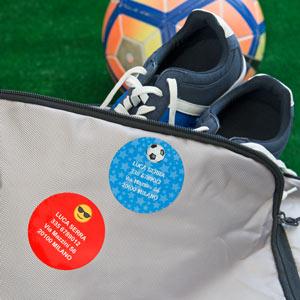 Etichette Adesive per Bagagli rotonde
