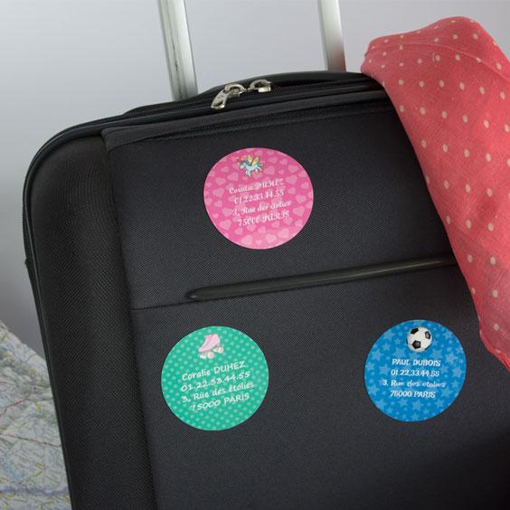 Etiquette bagage ronde