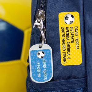 Etiquetas para mochilas