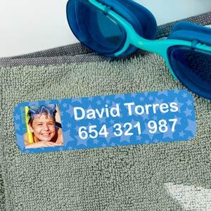 Big Iron-on Photo Clothing Labels