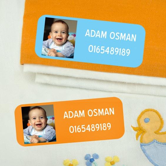 Medium Iron-On Photo Name Labels