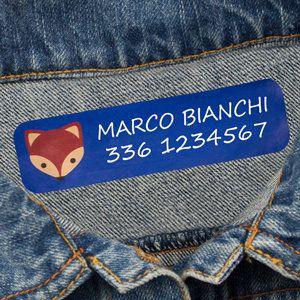 Etichette termoadesive grandi per vestiti
