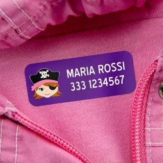 Etichette medie per vestiti
