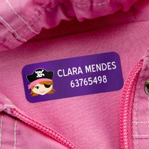Etiquetas para roupas médias