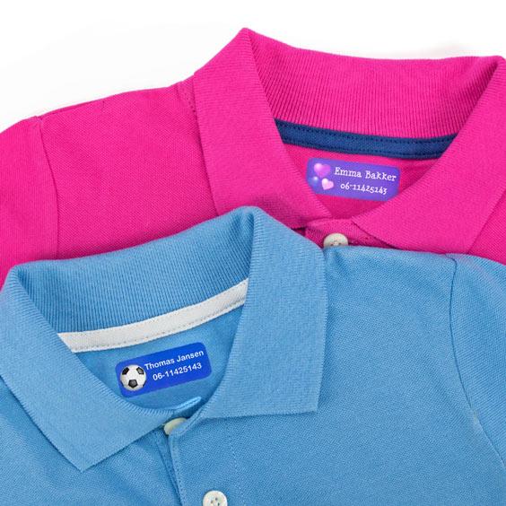 Middelgrote naamlabels voor kleding
