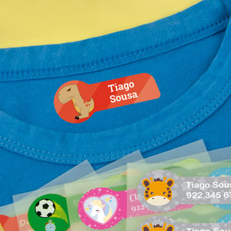 Etiquetas temáticas médias para roupa