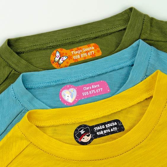Etiquetas para a roupa médias temáticas